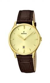 Festina Herren-Armbanduhr XL Analog Quarz Leder F16747/2