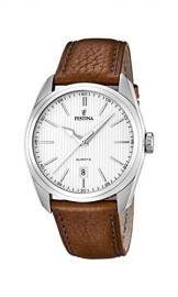 Festina Herren-Armbanduhr XL Analog Quarz Leder F16777/1