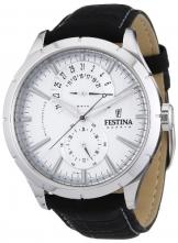 Festina Herren-Armbanduhr XL Klassik Retro Chronograph Leder F16573/1
