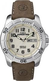 Timex Herren-Armbanduhr Analog Leder Braun T46681D7