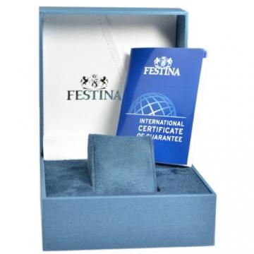 Festina Herren-Armbanduhr XL Klassik Multifunktion Analog Quarz Leder F16573/3 -