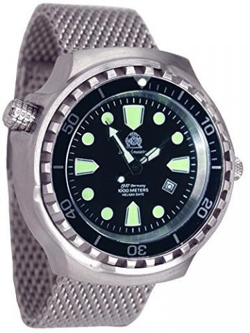 52mm Links-Bediener Automatik Uhr mit Milanaise Band T0253-MIL -