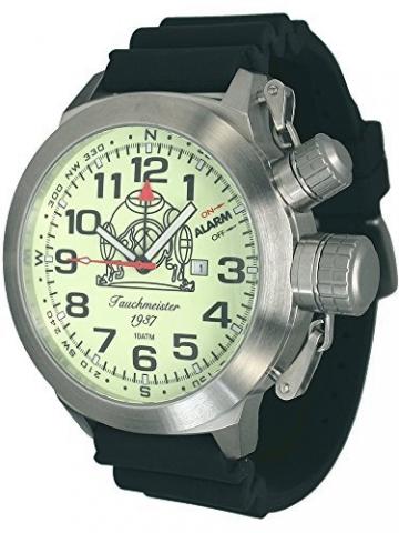 53mm XXL-Max.-SIZE Tauchmeister Alarm-Taucher Uhr T0187-PU -