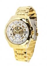 Lindberg & Sons Herren-Armbanduhr mit einem echten Diamanten – Automatik Analog Skelettuhr Edelstahl – SK14H029