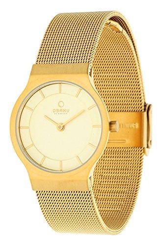 Obaku Damen Armbanduhr Gold V133LXGGMG