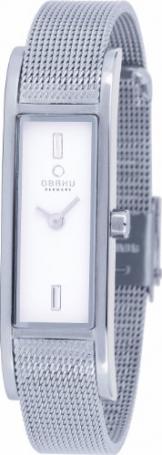 Obaku Denmark Damen-Armbanduhr Analog Quarz Edelstahl beschichtet V159LXCIMC
