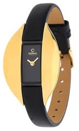 Obaku Denmark Damen-Armbanduhr Analog Quarz Leder V155LABRB1