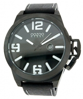 Oozoo Steel OS0116 XXL Damenuhr schwarz-weiss