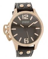 Oozoo Steel OS0252 XXL Damenuhr dunkelbraun/rose – 46 mm
