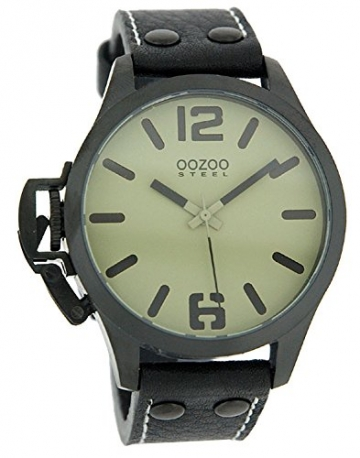 Oozoo Steel OS0262 XXL Damenuhr schwarz-desert