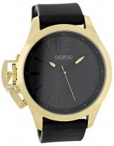 Oozoo Steel OS294 XXL Damenuhr gold-schwarz