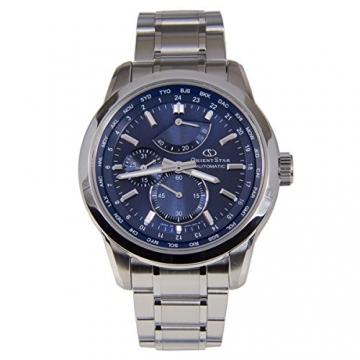 """Orient star """"World Time"""" Automatische SAR Saphir Power Reserve Uhr Blau jc00002d wz0021jc"""