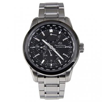 """Orient star """"World Time"""" Automatische SAR Saphir Power Reserve Uhr Schwarz jc00001b wz0011jc"""