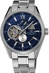 Orient star classic Automatik Herz offen blau modern Skelett Power Reserve Uhr sdk05002d