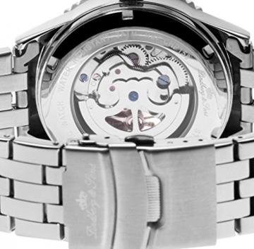 Lindberg & Sons Herren-Armbanduhr Automatik Analog Skelettuhr Edelstahl – CHP158 -