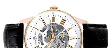 Lindberg & Sons Herren-Armbanduhr Automatik Analog Skelettuhr Leder Schwarz – CHP153 -