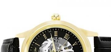 Lindberg & Sons Herren-Armbanduhr Automatik Analog Skelettuhr Leder Schwarz – CHP199 -