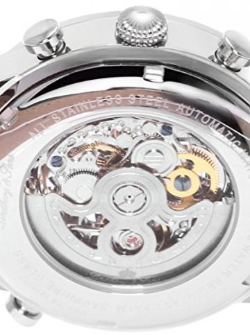 Lindberg & Sons Herren-Armbanduhr Automatik Analog Skelettuhr Leder Schwarz – SK14H002 -