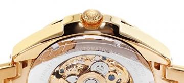 Lindberg & Sons Herren-Armbanduhr mit einem echten Diamanten – Automatik Analog Skelettuhr Edelstahl – SK14H029 -