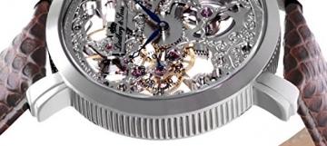Lindberg & Sons – SK14H063 -Herren-Armbanduhr – Automatik – Analog – braunes Lederarmband -