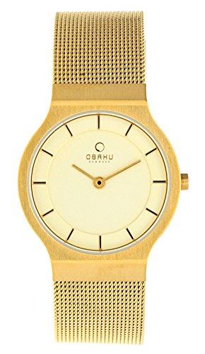 Obaku Damen Armbanduhr Gold V133LXGGMG -