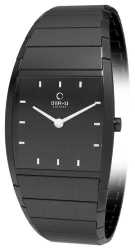 Obaku Harmony Damen-Armbanduhr Analog Edelstahl beschichtet V142LBBSB -