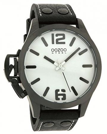 Oozoo Steel OS0060 XXL Damenuhr schwarz – 46 mm -