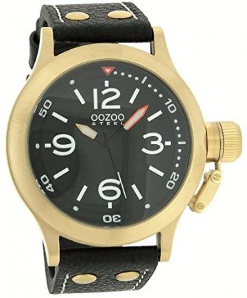 Oozoo Steel OS0204 XXL Damenuhr goldfarben/schwarz – 48 mm -