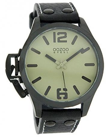Oozoo Steel OS0262 XXL Damenuhr schwarz-desert -
