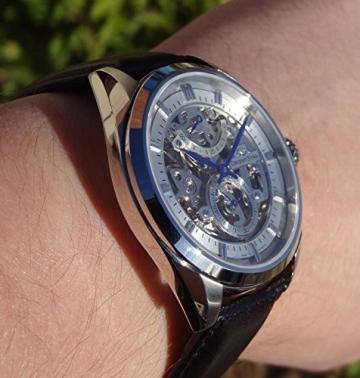 """Orient star classic """"Full Skelett 50Stunden Gangreserve Saphir Hand Aufziehen Kleid Armbanduhr dx00002W -"""