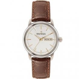 Adee Kaye 1890 Herren-Armbanduhr Armband Leder Braun Gehäuse Edelstahl Batterie Analog DGS00125/02 -