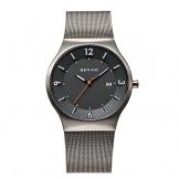 Bering Time Herren-Armbanduhr XL Solar Analog Quarz Edelstahl 14440-077 -