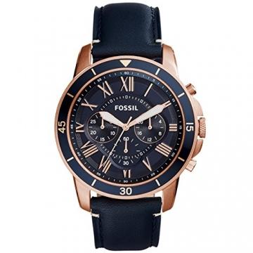 Fossil Herrenuhr Grant Sport Chronograph Blau FS5237 -
