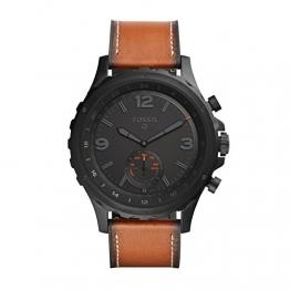 Fossil Q Nate Hybrid Smartwatch Herren-Uhr Lederband Aktivitätstracking FTW1114 -