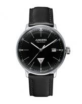 Junkers Herren-Armbanduhr XL Bauhaus Ronda515 Analog Quarz Leder 60702 -