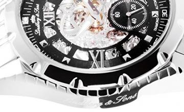Lindberg & Sons Herren-Armbanduhr mechanische Automatik Analog Skelettuhr Edelstahl - SK14H026 -