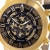 Lindberg & Sons Herren-Armbanduhr mechanische Automatik Analog Skelettuhr Leder Schwarz - G13104 -