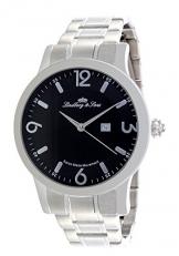 Lindberg & Sons Herren-Armbanduhr Quarz Schweizer Werk Analog Edelstahl - LSSM201 -