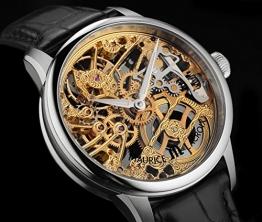 Masterpiece Squelette Tradition Skelett Herrenuhr Stahl-Gold bicolor Krokoleder schwarz -