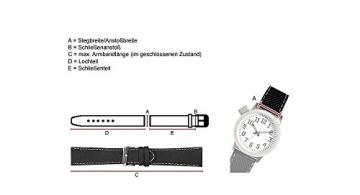 Maurice Lacroix Ersatzband Uhrarmband Leder Band Krokooptik Blau mit Naht-TiT 20mm 25840S -