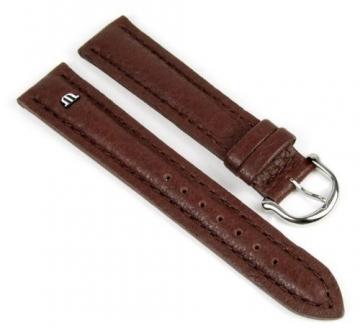 Maurice Lacroix Ersatzband Uhrarmband Leder Tiago braun 21728S, Stegbreite:20mm -