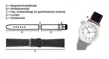 Maurice Lacroix Ersatzband Uhrarmband Leder Tiago schwarz 21726G, Stegbreite:18mm -