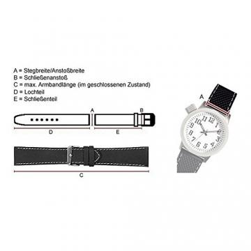Maurice Lacroix Ersatzband Uhrenarmband Kalbsleder Kroko-Optik Tannengrün 24495G, Stegbreite:18mm -