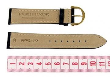 Maurice Lacroix Ersatzband Uhrenarmband Leder Krokooptik schwarz 20mm 273062010G-tit -