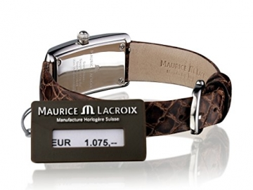 Maurice Lacroix Fiaba Damenuhr FA2164-SS001-710 Edelstahl Zifferblatt braun Krokolederband braun Saphirglas -