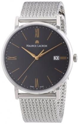 Maurice Lacroix Herren-Armbanduhr XL Eliros Analog Quarz Edelstahl EL1087-SS002-811 -