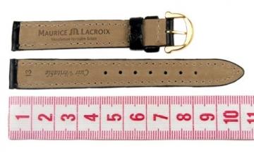 Maurice Lacroix Louisiana Ersatzband Uhrenarmband Leder Band schwarz 13mm 293011310G -