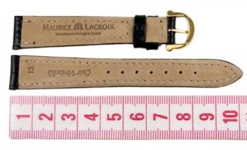 Maurice Lacroix Louisiana Ersatzband Uhrenarmband Leder Band schwarz 15mm 293011510G -