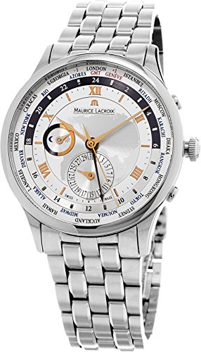 MAURICE LACROIX MASTERPIECE WORLDTIMER HERREN 42MM DATUM UHR MP6008-SS002-110-1 -