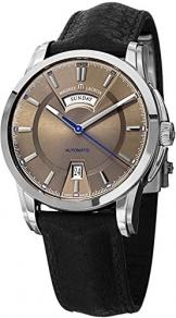 Maurice Lacroix Pontos Day/Date Automatik Uhr, Edelstahl, Braun -